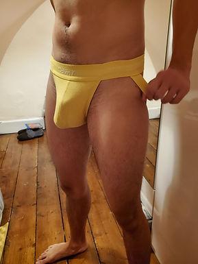 Yellow Calvin Klein Jockstrap