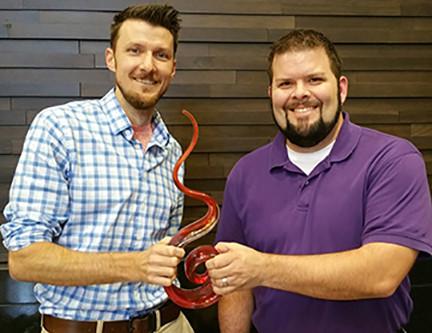 Fire Starter Award Presented to Nathan Banker & Martin Sams!