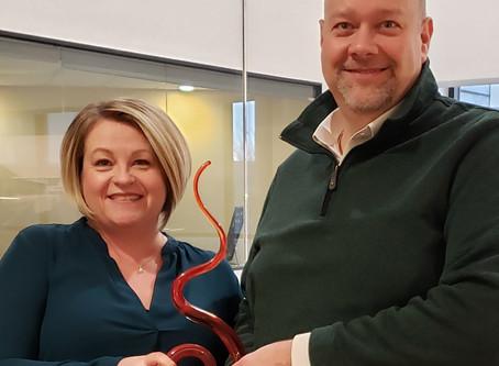 Jennifer Byrer and John Gilligan are Awarded the Fire Starter Award