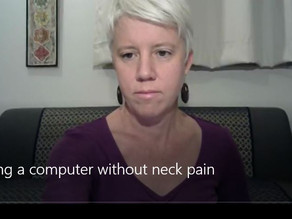 Using a computer without neck pain