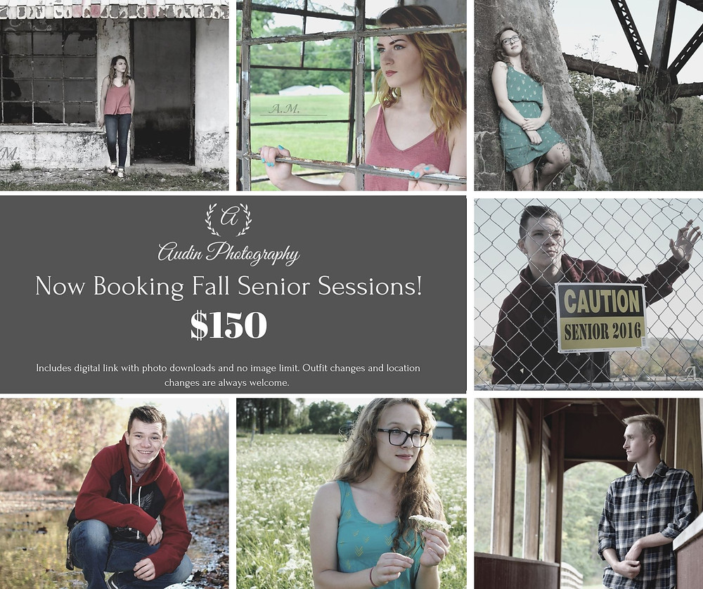 I'm SO excited for our 2020 Seniors. I am running a fall discount! $50 off my senior sessions. If you're interested in having both spring and fall photos I'm running a another deal aswell. Share with your friends! and message me for more details!