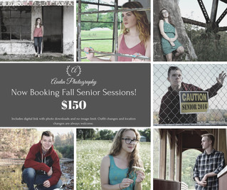 2020 Senior Session $50 off!!