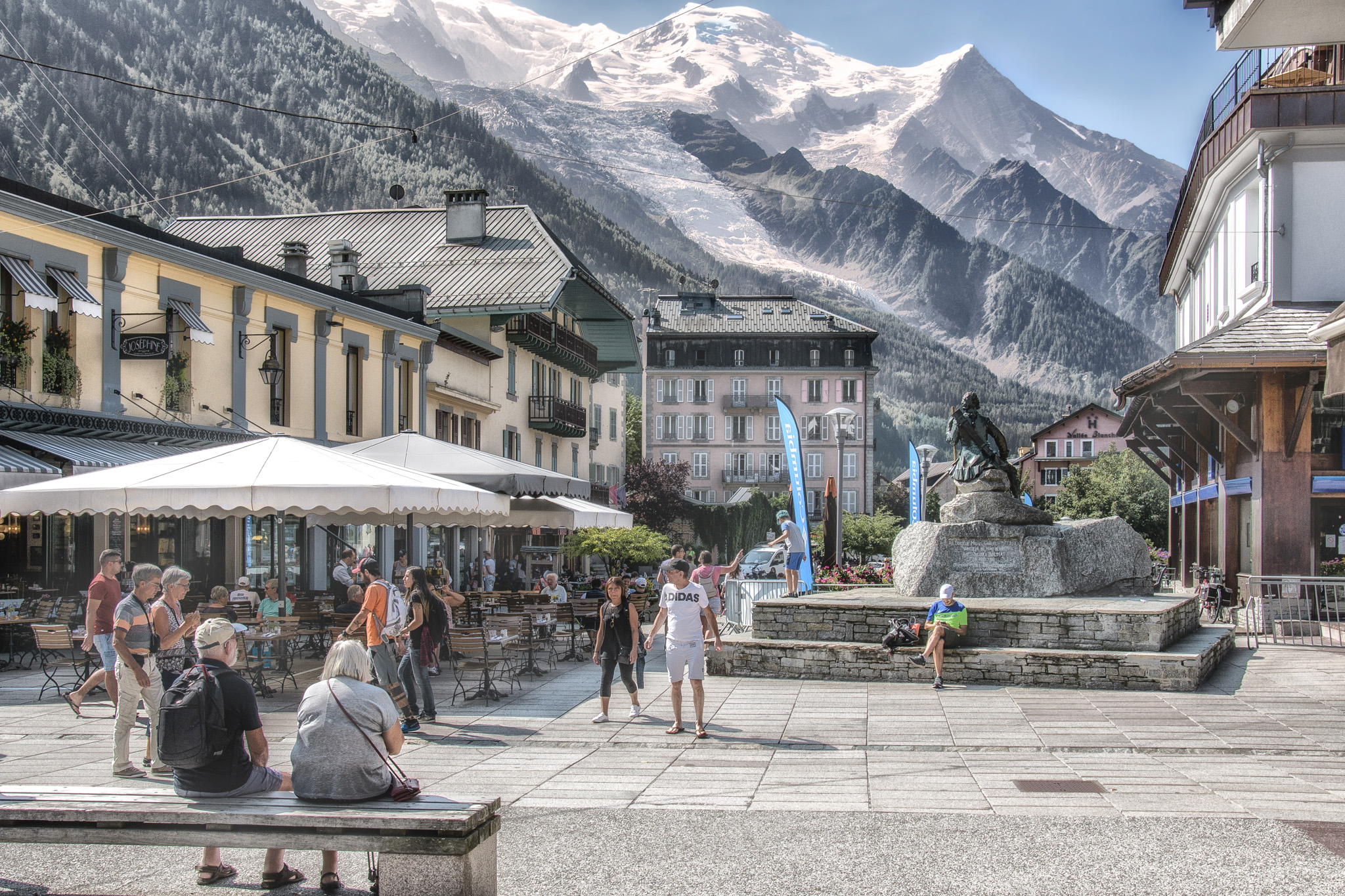 Mont Blanc from Chamonix, France