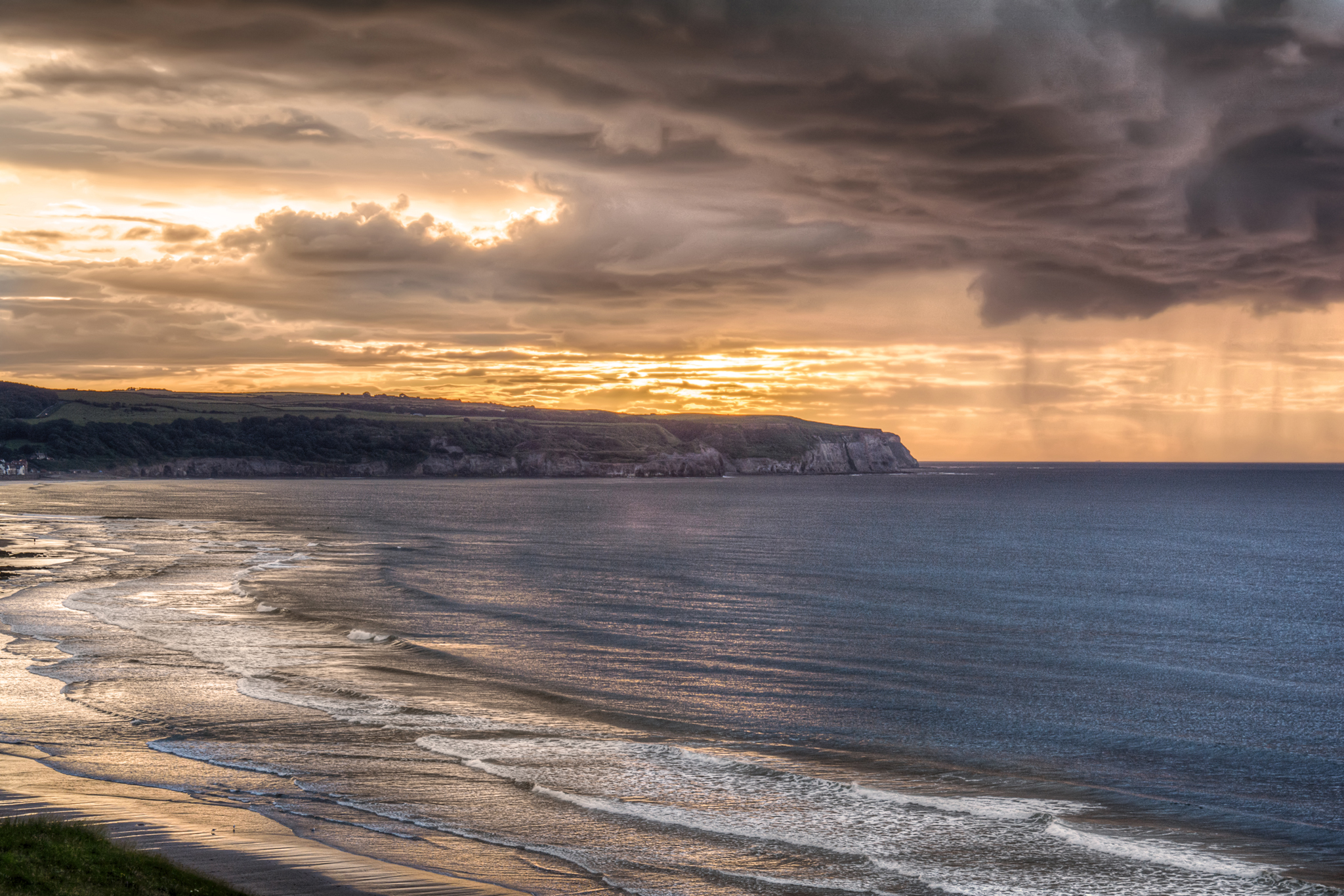 Sunset over Sandsend