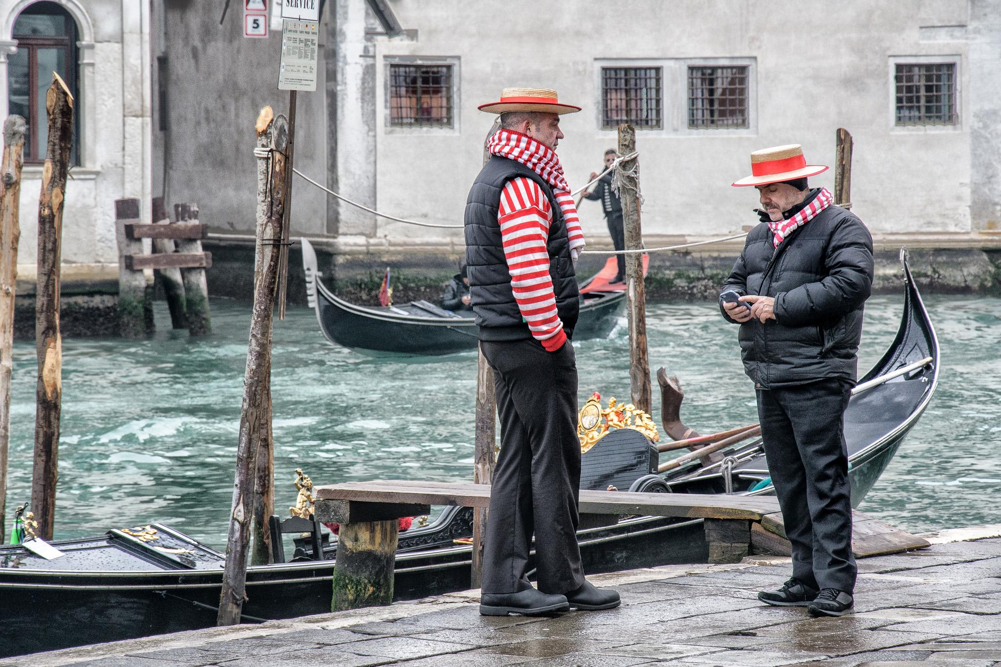 Gondoliers, Venice