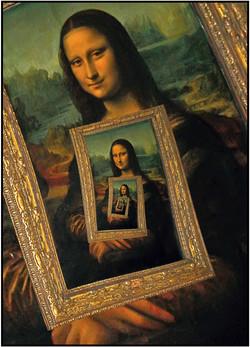 Mona Lisa reframed