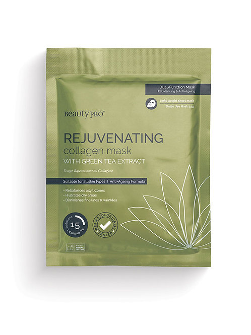 REJUVENATING Collagen Sheet Mask with Green Tea extract