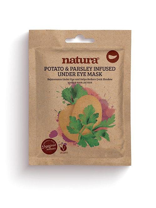 natura POTATO & PARSLEY Under Eye Mask (3 Pairs)