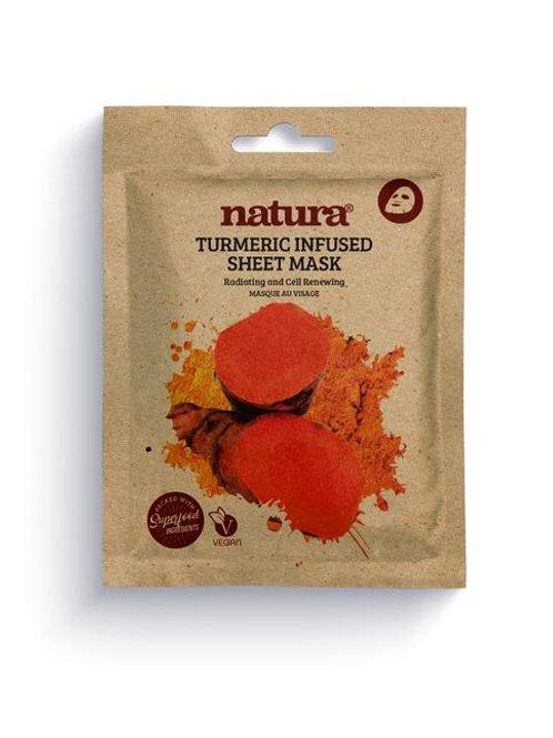 natura TURMERIC Infused Sheet Face Mask