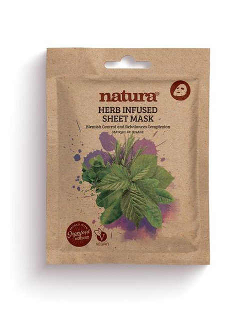 natura HERB Infused Face Sheet Mask