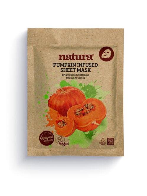 natura PUMPKIN Infused Sheet Face Mask