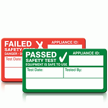 AllSafe PAT Testing Cheshire pass stickers