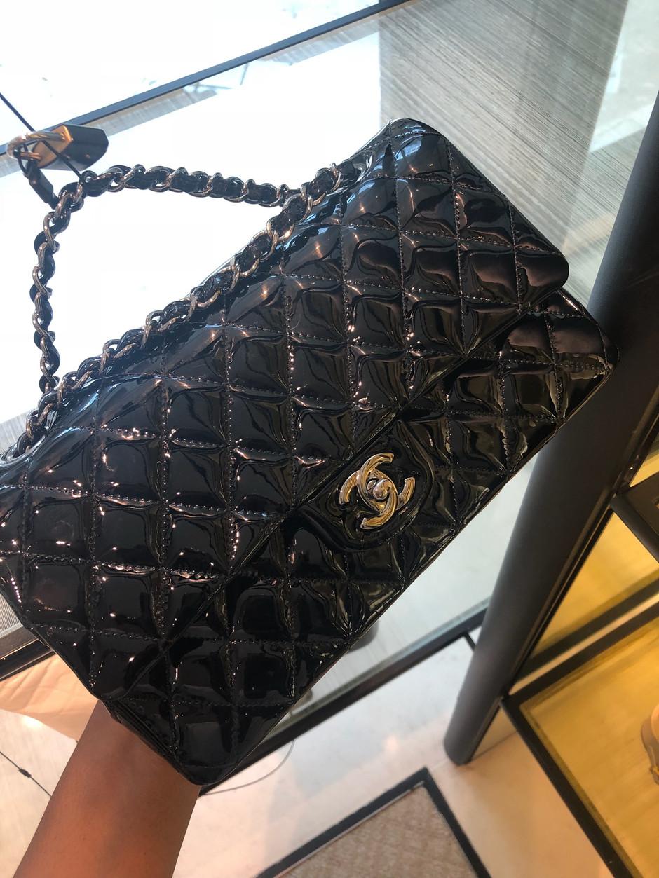 Chanel Patent Leather ClassicFlap Bag & TheNavy Blue Cavier Boy Bag Review!