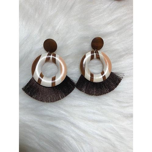 Aztec Style Tassel Earrings
