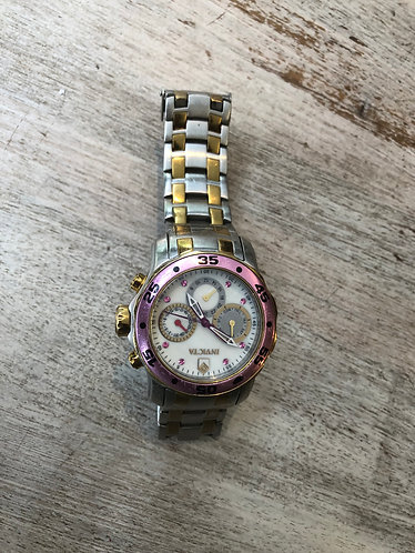 Invicta Pink Gold & Silver Stainless Steel Watch