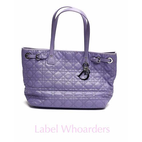 Dior Purple Panera Leather Tote Handbag