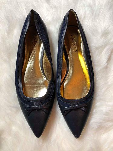 Lauren Ralph Lauren Women's Navy Blue Pointy Toe Flats Size 7