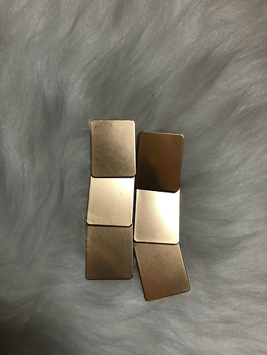 Square Metal Earrings