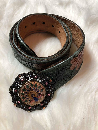 BF Handmade Women's Leather Belt Size 34""