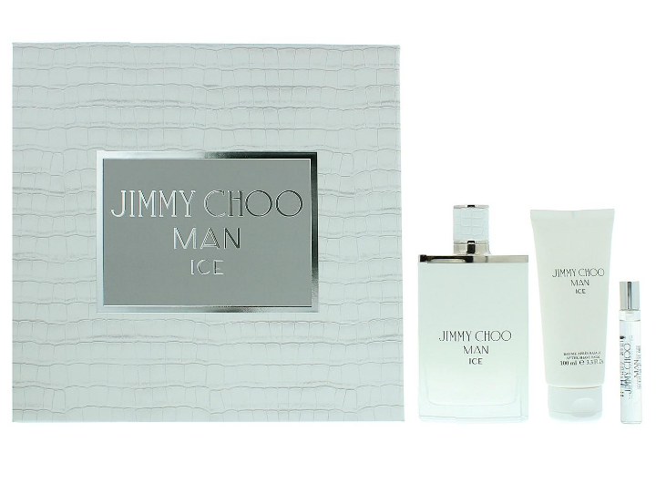 Jimmy Choo Man Ice Gift Set 100ml EDT + 100ml Aftershave Balm + 7.5ml EDT
