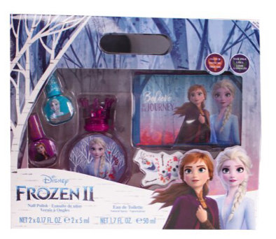 Disney Frozen II Gift Set 50ml EDT + 2x Nail Polish + Nail File + Toiletry Bag