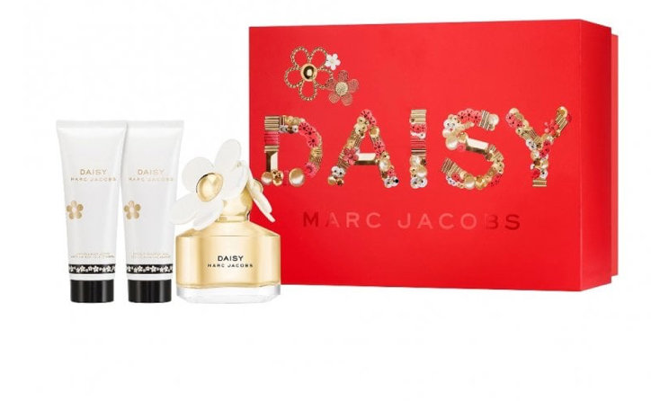 Marc Jacobs Daisy Gift Set 100ml EDT + 75ml Body Lotion + 10ml EDT