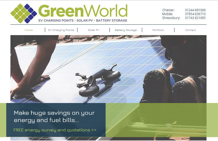 Greenworld Uk Ltd New Website Goes Live