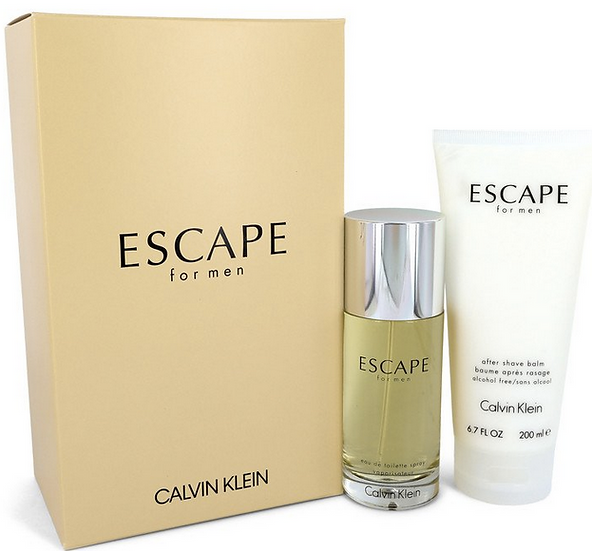 Cavin Klein Escape 100 ml Eau De Toilette Spray + 200 ml After Shave Balm