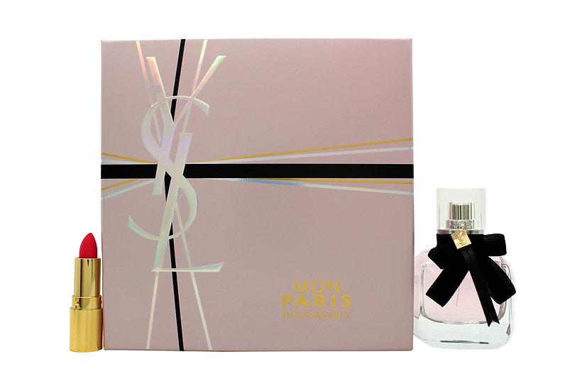 ves Saint Laurent Mon Paris Gift Set 30ml EDP + 1.3ml Rouge Volupte Shine Lipsti