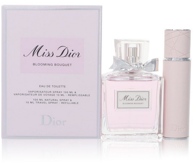 Miss Dior Blooming Bouquet 100 ml EDT Spray + 10 ml Refillable Travel Spray