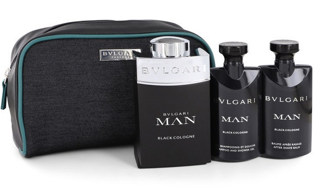 Bvlgari Man Black 100 ml EDT + 75ml After Shave Balm + 75 ml Shower Gel in Pouch