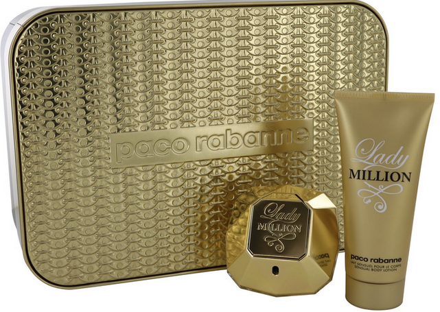 Lady Million 80 ml Eau De Parfum Spray + 100 ml Body Lotion