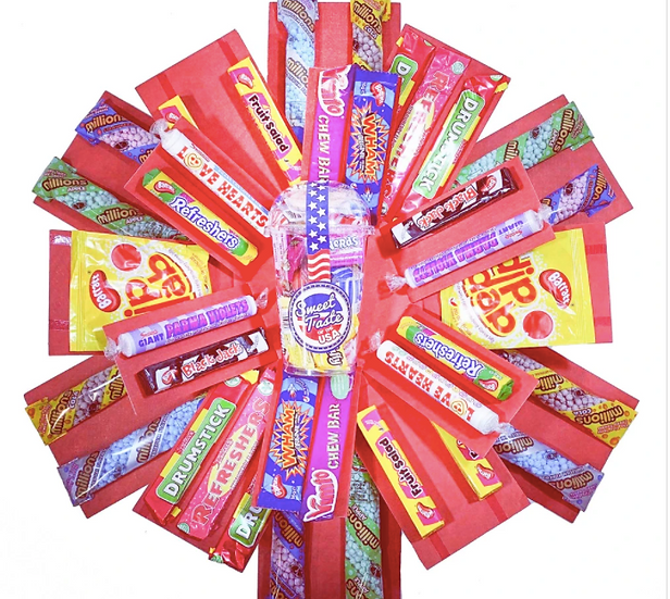 The Retro Sweets Explosion Reveal Box