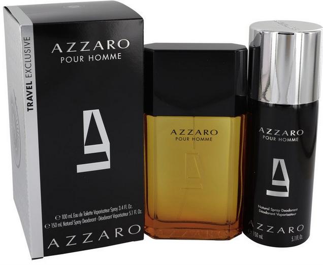 Azzaro Gift Set  100 ml Eau De Toilette Spray + 150 ml Deodorant Spray