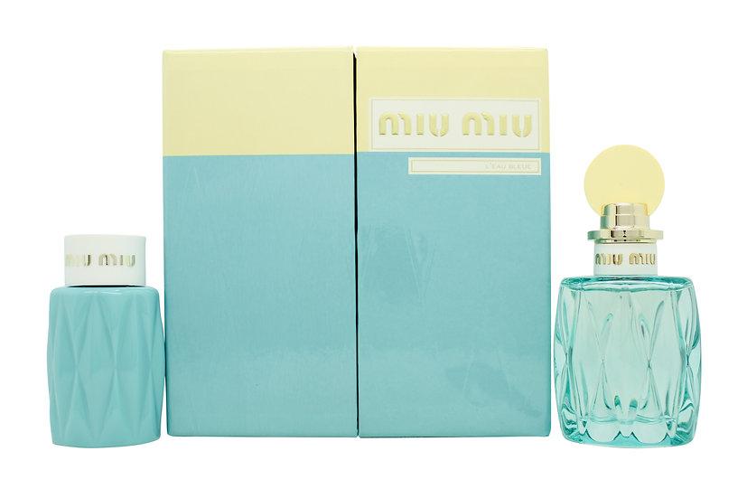 Miu Miu L'Eau Bleue Gift Set 100ml EDP + 100ml Body Lotion