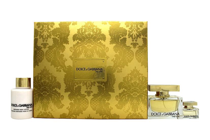 Dolce & Gabbana The One Gift Set 50ml EDP + 100ml Body Lotion + 5ml EDP