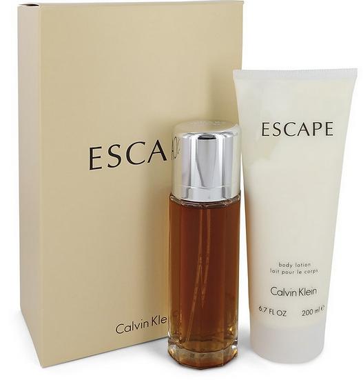 Calvin Klein Escape Gift Set 100 ml Eau De Parfum Spray + 200 ml Body Lotion