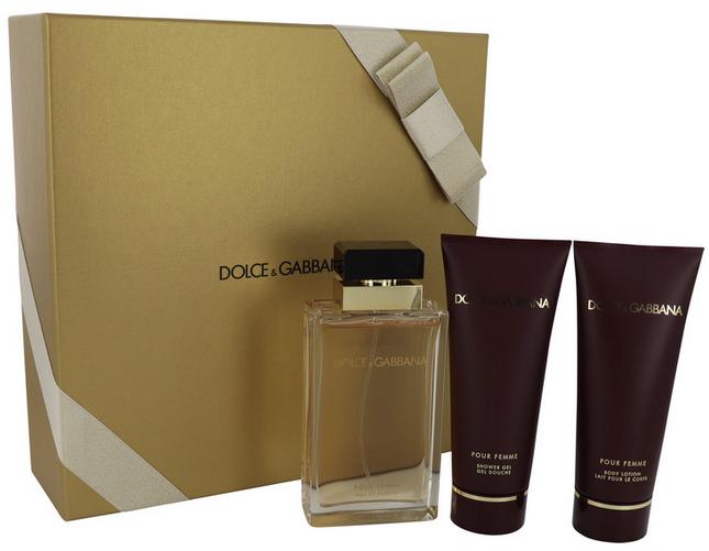 Dolce & Gabbana Pour Femme 100 ml EDP  + 100 ml Shower Gel + 100 ml Body Lotion