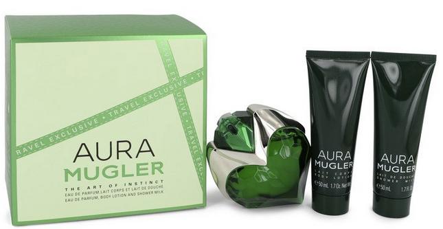 Thierry Mugler Aura 50 ml EDP Spray + 50 ml Body Lotion + 50 ml Shower Milk