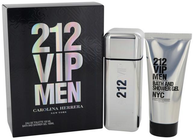 Carolina Herrera 212 Vip Gift Set  100ml EDT + 100ml Shower Gel