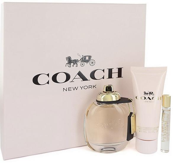 Coach Gift Set 90 ml EDP Spray + 8 ml Mini EDP Spray + 100 ml Body Lotion