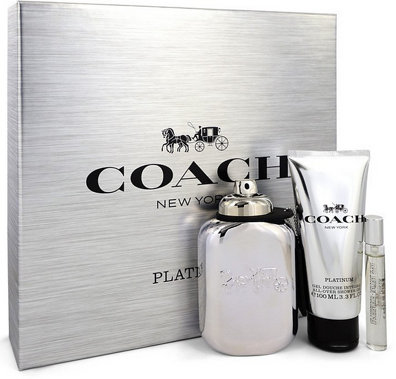 Coach Platinum 100 ml EDP Spray 100 ml Shower Gel + 8 ml Mini EDP Spray