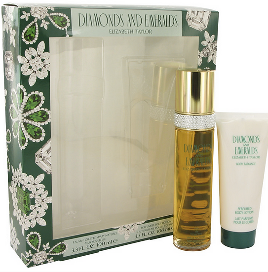 Diamonds & Emeralds Gift Set 100 ml Eau De Toilette Spray + 100 ml Body Lotion