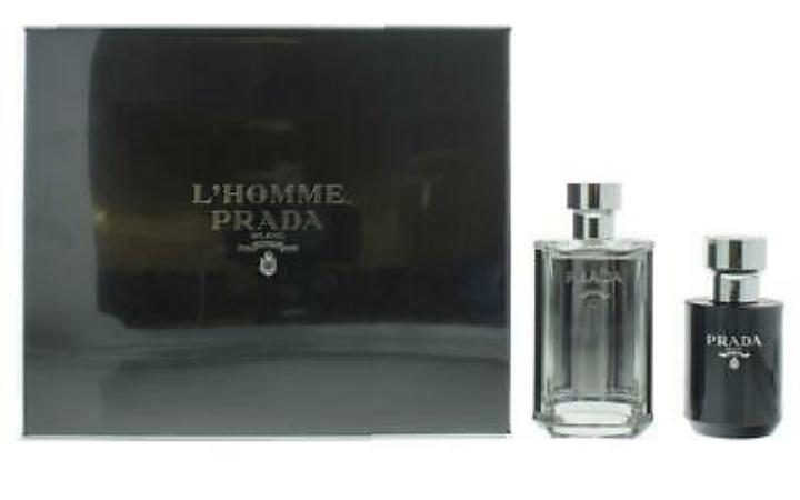 Prada L'Homme Gift Set 100ml EDT + 125ml Aftershave Balm