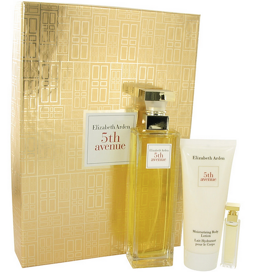 5th Avenue Elizabeth Arden Gift Set 125ml EDP Spray + 4ml edt +100ml body lotion