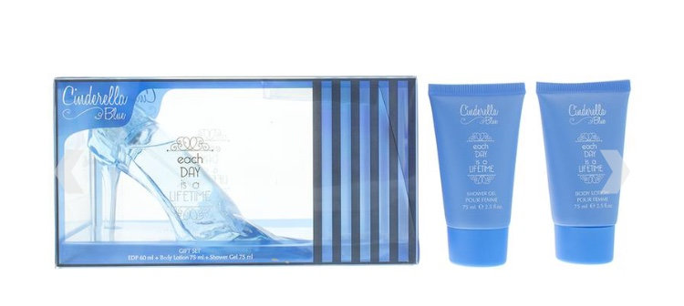 Disney Cinderella Blue Slipper Gift Set 60ml EDP + 75ml Shower Gel + 75ml Lotion