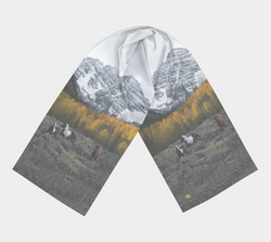 Maroon-Bells-Horses-SILK-18x72-Preview
