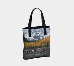 maroon-bells-w-horses-urban-tote-bag