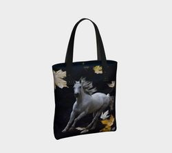 horse-w-leaves-urban-tote-bag