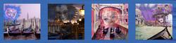 Venice Masks Scarf 72x18